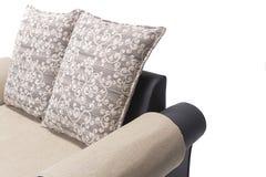 Wygodny luksusowy kanapa set robić wysoka ilość Lenin i skóra w beżowym kolorze Fotografia Royalty Free