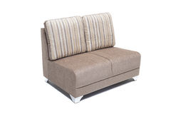 Wygodny luksusowy kanapa set robić wysoka ilość Lenin i skóra w beżowym kolorze Obrazy Royalty Free