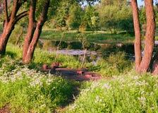 Wygodny miejsce outdoors dla pinkinu Zdjęcia Royalty Free
