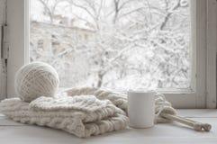 Wygodny zimy wciąż życie Fotografia Royalty Free