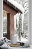 Wygodny zimy wciąż życie fotografia stock