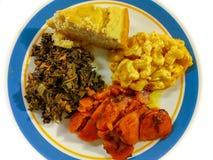 Wygody jedzenie Południowy klasyk Odgórny widok obrazy stock