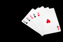 Wygrana grzebaka karty set Zdjęcia Royalty Free