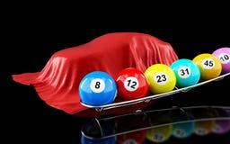 Wygrana samochody w loterii ilustracji