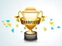 Wygrany trofeum dla krykieta Obrazy Royalty Free