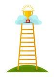 Wygrywa schody w chmury ilustracja wektor