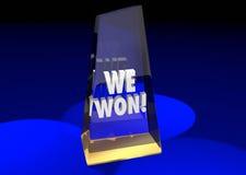Wygrywaliśmy pracy zespołowej nagrody Wpólnie Gemową Nagrodzoną rywalizację 3d Illustr Zdjęcia Stock