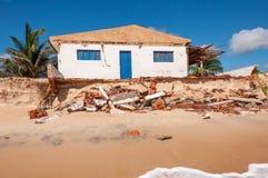 Wygryziona plaża, Pititinga, Natal (Brazylia) obraz royalty free