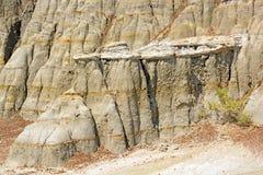Wygryziona skała w badlands Obraz Stock