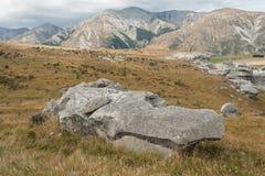 Wygryzione skały przy Grodowym wzgórzem, Nowa Zelandia Obrazy Stock
