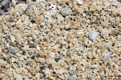 Wygryziony beton na plaży Zdjęcie Stock