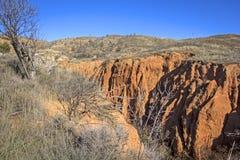 Wygryziony krajobraz w Hiszpania, Aragon Zdjęcia Royalty Free