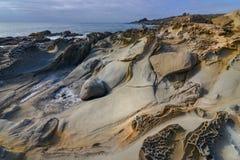 Wygryziony piaskowiec tekstur i wzorów szczegół zdjęcia royalty free