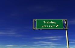 wyjścia autostrady znaka szkolenie zdjęcia stock
