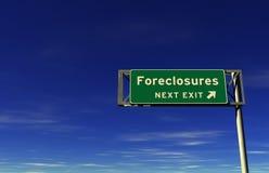 wyjścia foreclosures autostrady znak zdjęcia royalty free