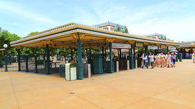 Wyjście bramy Hong kong Disneyland Zdjęcie Stock