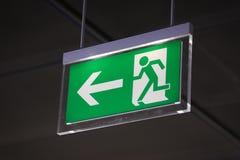 Wyjście ewakuacyjne - Akcyjny wizerunek Fotografia Stock