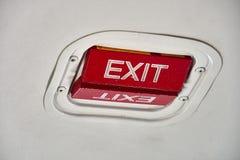 Wyjście Ewakuacyjne wskaźnik na suficie Beechcraft 1900D zdjęcia stock