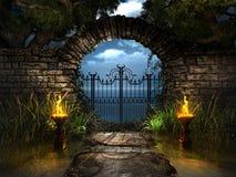 Wyjście od ogródu Zdjęcia Royalty Free