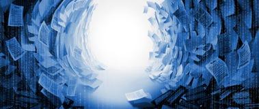 Wyjście od przeszkody przestrzeni tworzył mnóstwo Biznesowych papierów tłem Obraz Stock