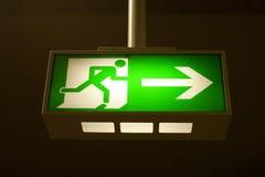 wyjście wylotowy znak Fotografia Stock