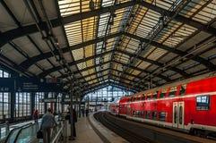 wyjściowy Lviv staci pociąg Ukraine Zdjęcia Royalty Free