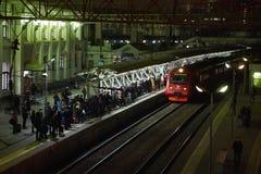 wyjściowy Lviv staci pociąg Ukraine Fotografia Royalty Free