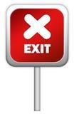 wyjścia czerwieni znak Fotografia Royalty Free