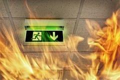Wyjście ewakuacyjne Obraz Stock