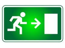 Wyjście ewakuacyjne znak Zdjęcie Stock