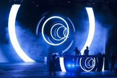 Wyjście festiwalu muzyki 2013 tana arena Zdjęcia Royalty Free