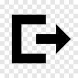 Wyjście ikona - wektorowy ikonowy projekt Royalty Ilustracja