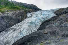 Wyjście lodowiec w Seward w Alaska Stany Zjednoczone Ameryka Zdjęcia Stock