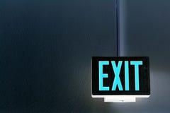 wyjście neon znak Zdjęcie Stock