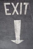 Wyjście znak Fotografia Royalty Free