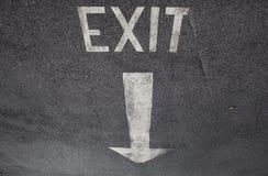 Wyjście znak Fotografia Stock