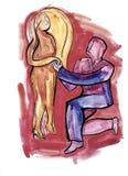 Wyjaśnienie w miłości ilustracja wektor