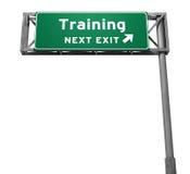wyjścia autostrady znaka szkolenie Zdjęcie Stock