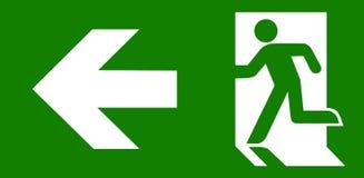 Wyjście ewakuacyjne zielony znak Zdjęcie Royalty Free