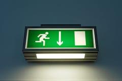 Wyjście znak na ścianie Fotografia Royalty Free