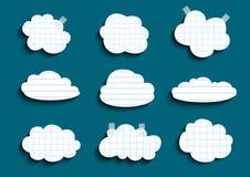 Wykładać i sprawdzać chmury inkasowe ilustracja wektor