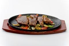 wykładać marmurem mięsnego stek zdjęcia royalty free