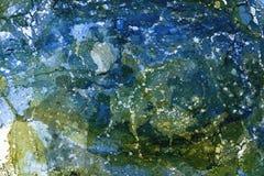Wykładać marmurem zieloną błękitną teksturę zdjęcia royalty free