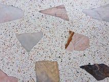Wykłada marmurem wzorzystej tekstury lastryka podłoga, polerujący kamienia wzoru tło Obraz Royalty Free