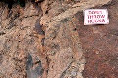 wykładowcy skał szyldowy t rzut Fotografia Royalty Free