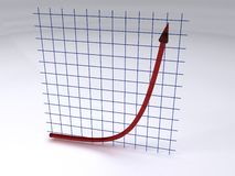 wykładniczy wzrost zdjęcia stock