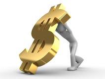 wykładowcy dolarowy spadek t Obrazy Royalty Free