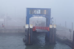 Wyk (Foehr) - Ferry dock in the harbor Royalty Free Stock Image