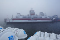 Wyk (Foehr) - Ferry in the port Stock Image