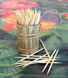Wykałaczki na stole Fotografia Stock